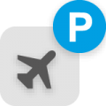 dip icon airport and trade fair parking web